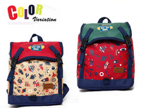 2013 new Children Kids Baby robot Cartoon Backpack Schoolbag Shoulder Bags  print canvas school bag