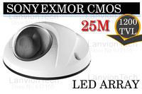 1/3 inch SONY Exmor CMOS,LED Array Dome Camera,1200TVL+free shipping