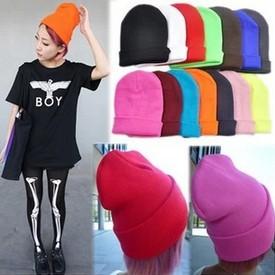 Hot Selling Caps The Men Women's Autumn Winter Warm Wool Knitted Beanies Crochet Cap Unisex Hip-hop Dance Hats(China (Mainland))