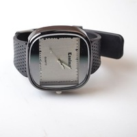 Square dial outside pointer alloy sport electronic watch unisex table