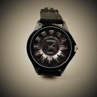2013 fashion table cutout ss1 round black alloy rhinestone pointer electronic watch ladies watch