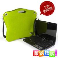 Women European style Fashion novelty felt one shoulder laptop notebook bag 14 cross-body laptop bags handbag  Free sshipping