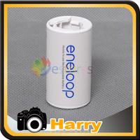 2pcs Sanyo Battery Adaptor Converter AA R6 to C R14 C-Size Free Shipping