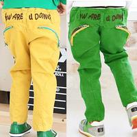 5 pcs/lots Candy Color Fashion Style Children Kids Pants Long Autumn Spring Wear Boys Trousers