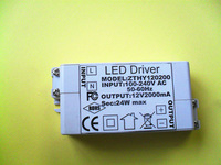 DC12V 2A 24 w Max LED driver for indoor led strips for 3528/5050 LED strips,100PCS ,Free Shipping