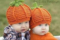New Baby Crochet Hats Halloween Newborn baby cap Toddler Pumpkin Handmade knitting Hedge hat