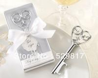 "Factory directly sale 30 PCS/LOT Wedding favor-""Simply Elegant"" Key To My Heart Bottle Opener"