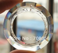 12PCS 50MM BIG O RING ROUND CRYSTAL PRISM SUNCATCHER  FREE SHIPPING