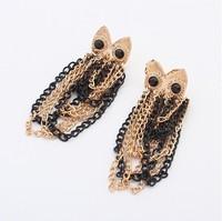 Min.order is $15(mix order)2013 fashion owl Tassel Earrings,Stud Earrings