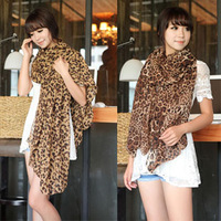 Autumn and winter 2013 leopard print chiffon scarf ultra long ultra wide thin silk scarf female cape scarf dual