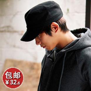 Hat male autumn and winter woolen hat male cadet cap truck cap hat 2031(China (Mainland))