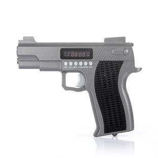Child small audio toy pistol type audio portable card speaker tf card usb flash drive band fm led lighting