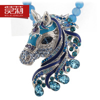 Original design necklace chinese style zodiac natural crystal necklace short design accessories female