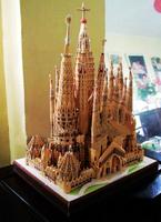 Children DIY TOY 3D Paper Puzzle model Spain Sagrada Familia