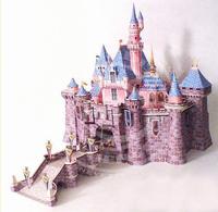 Children DIY TOY 3D Paper Puzzle model Sleeping Beauty Castle