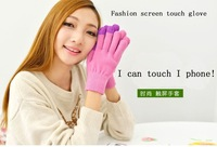 Winter  christmas gift women Screen Touch Gloves Unisex Winter Gloves For Cell Phone Tablet Maple Leaf style free shipping