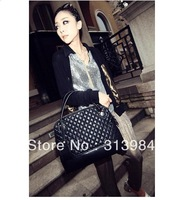 Free Shipping 2013 new  fashion women handbag rhombus PU handbag