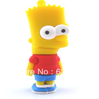 Free shipping  2g/4g/8g/16g/32g  simpson family Bart cartoon usb flash drive cute