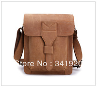 Free shipping New simple style men's vintage shoulder bag cowhide leather satchel, Men's Retro Casual bag Factory direct sale