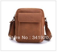 Free Shipping Wholesales original ancient European and American classic retro package tide men genuine leather shoulder bag