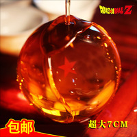 Free Shipping 7pieces\lot 7CM A full set of seven dragon balls Large ball crystal ball dragon hand-done birthday gift