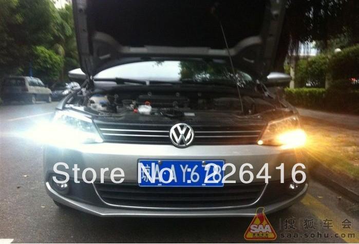 Free shipping,LED DRL Driving Daytime Running Day Fog Lamp Light For VW Sagitar Jetta MK6(China (Mainland))