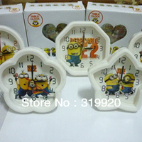 Free shipping+wholesale price  10pcs/lot   Despicable Me   cartoon alarm clock  5 different Shape kid's best gifts