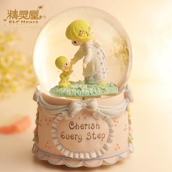 Birthday gift mother and child crystal ball music box music box child