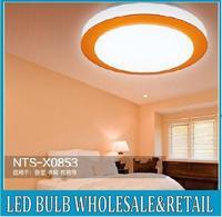 7w 210mm blue orange purple lampshade led ceiling light suspended round aisle lamp 85-265v for kitchen, washroom,gallery