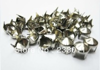Freeship200PCs nail nail claw 7 mm silver cone package of shoes accessories rivet punk clothing material