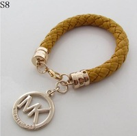 2013 new women's fashion PU braided Bracelet in multicolor Bracelet in free shipping retro punk personality