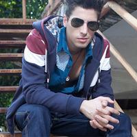 2013 Top Fashion Winter Mens Hoodies And Sweatshirts PU Leather Hoodies Clothes For Men Coat  Galaxy Sweatshirt Grey,Green,XXXL