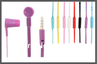 Candy color with mic 	New Hot Brand 3.5MM Jack Earphones and headphone For iphone Mobile Phone/Ebook/Tablet PC