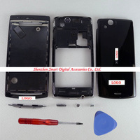 Black Replacement Full Housing Front Frame Middle Bezel  Battery Back Cover For Sony Ericsson Xperia Arc X12 LT15i LT18i