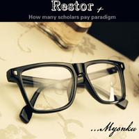 Fashion wood grain eyeglasses frame trend myopia plain mirror sheet glasses