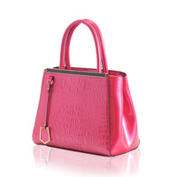 Women's handbag fashion japanned Leather Crocodile pattern embossed messenger bag
