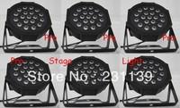 6pcs/Lot 2013 Hot Selling LED SlimPar 19x3W Flat Light With 3/7Channels