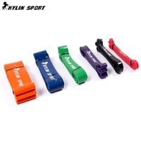 Free shipping crossfit resistance latex body training bands with 6 different levels resistance bands set