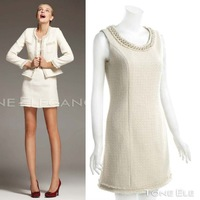 Factory Direct grant in 2013 qiu dong woolen tweed suit beading W0945