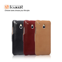 Luxury genuine leather case for HTC ONE mini/601E,mobile phone cover,side-open design,fashion style,free shipping