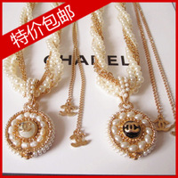 2013 beautiful elegant ladies royal small pearl compass necklace
