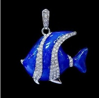 4gb 8gb 16gb 32gb metal blue goldfish Carassius auratis fish crystal USB 2.0 flash drive memory pen disk Drop ship dropshipping