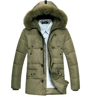 Free shipping, in 2013 the new winter man business eider down jacket, casual heavy hair thickening coat, S - XXL, 3 color