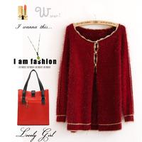 Free shipping Autumn fashion sweet ladies sweater small cardigan outerwear