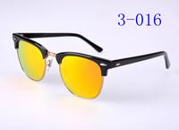 Beautiful Metal hinge clubmaster Plank Black Frame Sunglasses 3016 black sun glasses club masters men's Sunglasses women's sungl