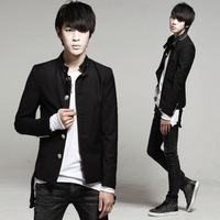 free shipping 2013 spring slim stand collar mens blazer chinese tunic suit blazer school uniform
