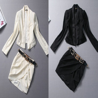 Factory directly criticized 2013 autumn models women blazer suit skirt OL Belt W0985