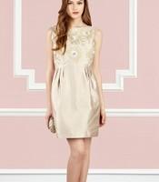 2013 To 2014 European Elegant Sleeveless Embroidered Diamond One-piece Embroidery Dresses Women