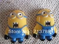flat back resin minion for phone decoration 20pcs/lot