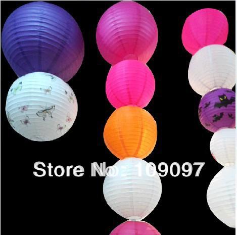 Free Shipping (35pcs/Lot) 8''(20cm) Chinese Paper Lantern Lamp Festival Decoration Wedding Party Lantern(China (Mainland))